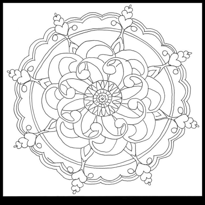 Abstract Coloring Pages Easy m4n8