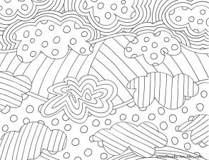 Abstract Coloring Pages Free Printable Easy Abstract Doodle