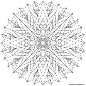 Abstract Coloring Pages Free Printable Geometric Mandala with Sharp Edges