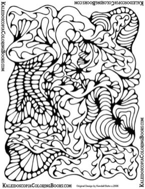 Abstract Coloring Pages Free Printable Trippy Drawing