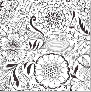 Abstract Coloring Pages for Adults Beautiful Abstract Flowers