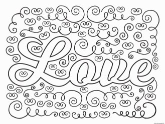 Coloring Pages for Teenage Girl Easy Love Doodle