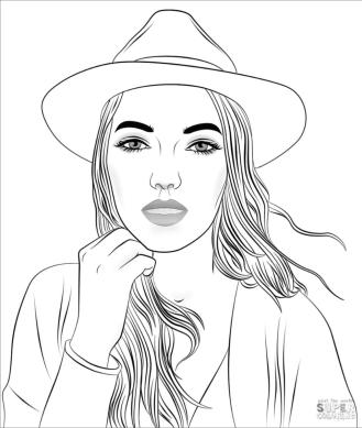 Coloring Pages for Teenage Girl Printable A Portrait of a Woman