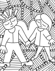 Coloring Pages for Teenage Girl Printable Pop Art Couple