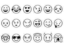 Emoji Coloring Pages Cute Lots of Smiley Faces