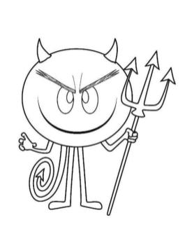 Emoji Movie Coloring Pages Printable The Devil