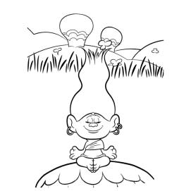 Free Trolls Coloring Pages Zen Doing Yoga