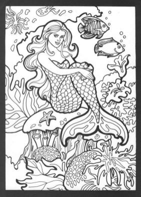 Mermaid Adult Coloring Pages ch1l9