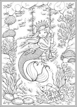 Mermaid Adult Coloring Pages ltt3l