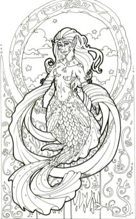 Mermaid Coloring Pages for Adult f99l1