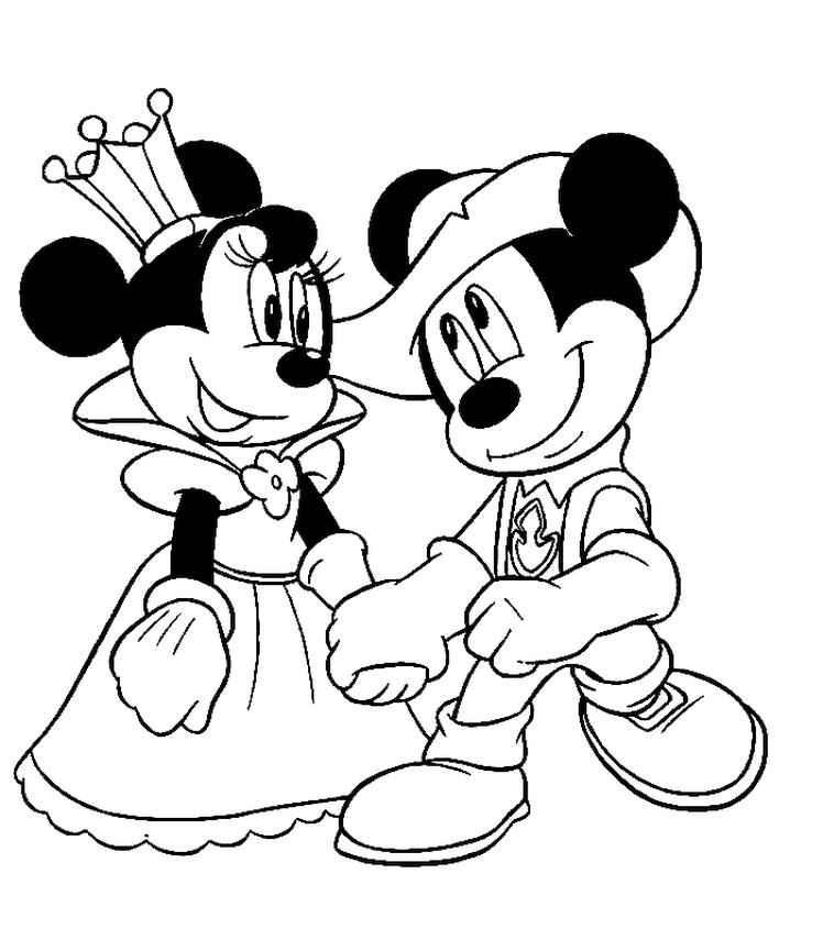 Minnie Mouse Coloring Pages Online Minnie Becomes a Princess for Mickey