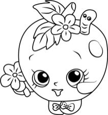 Shopkins Coloring Book Pages Apple Blossom