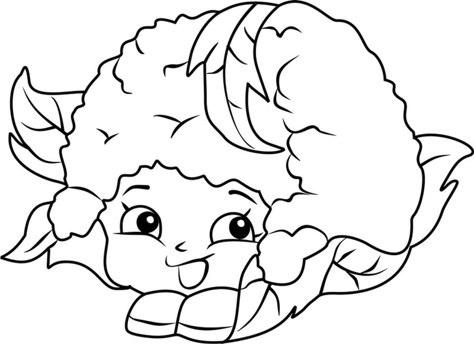 Shopkins Coloring Book Pages Chloe Flower