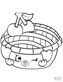 Shopkins Coloring Pages Shy Pie