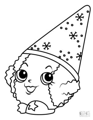 Shopkins Coloring Pages Snow Crush