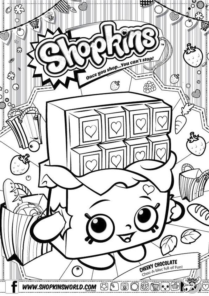 Shopkins Coloring Pages for Free Cheeky Chocolate