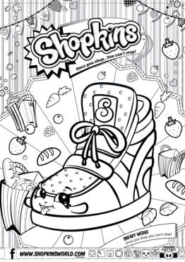 Shopkins Coloring Pages for Free Sneaky Wedge
