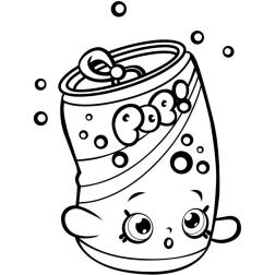 Shopkins Coloring Pages for Kids Soda Pop Sweetie