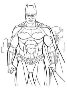 Superhero Coloring Pages Batman