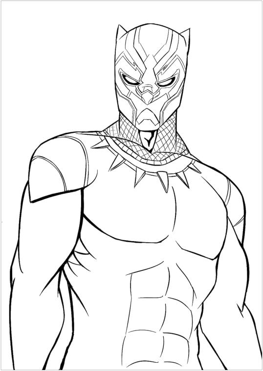 Superhero Coloring Pages For Adult Black Panther Is Super Cool