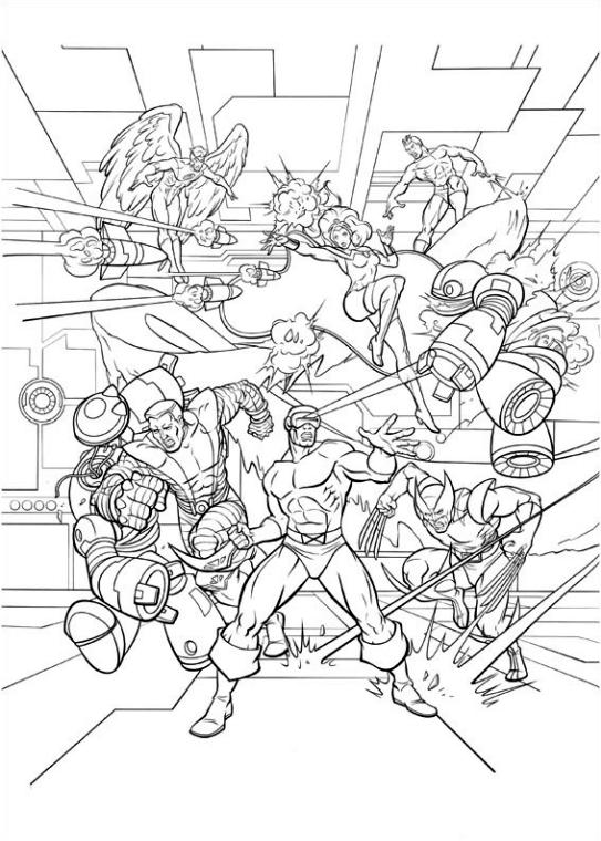 Superhero Coloring Pages For Adult The Mutants from X Men