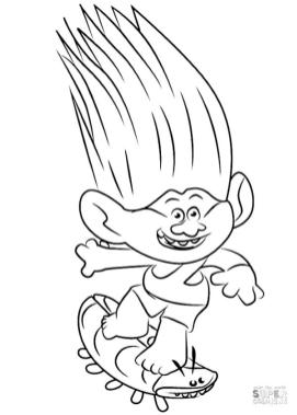 Trolls Coloring Pages Free Printable Aspen Heitz
