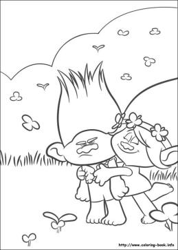 Trolls Coloring Pages for Kids Branch Is So Grumpy