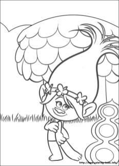 Trolls Coloring Pages for Kids Poppy Looking so Cute