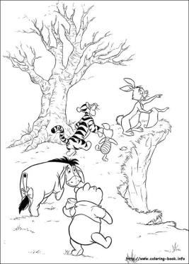Winnie the Pooh Coloring Pages Cute Pooh and Friends Treasure Hunting
