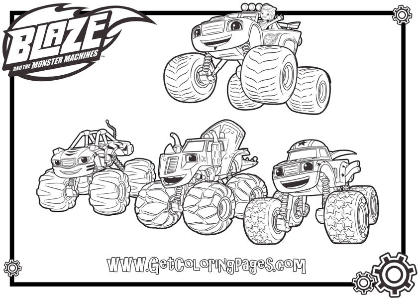 Blaze Coloring Pages Online Blaze and Friends