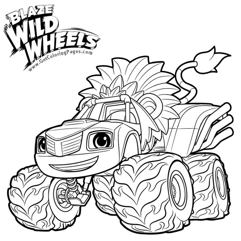 Blaze Coloring Pages Online Blaze the Wild Wheels