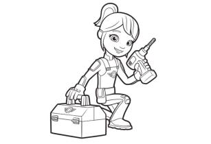 Blaze Coloring Pages Online Gabby the Cute Mechanic Girl