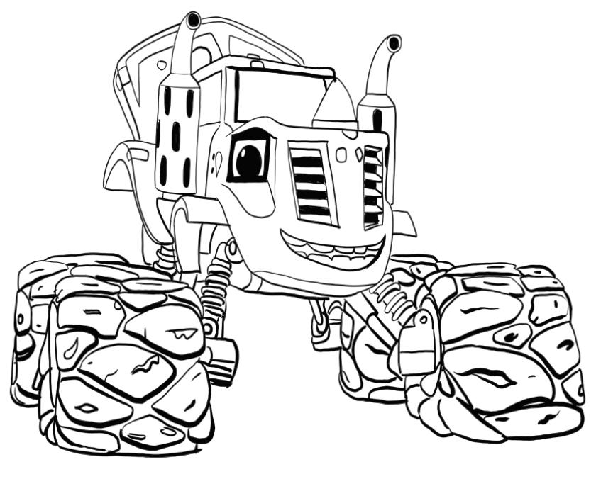 Blaze Coloring Pages Printable Zeg The Old Tractor Guy