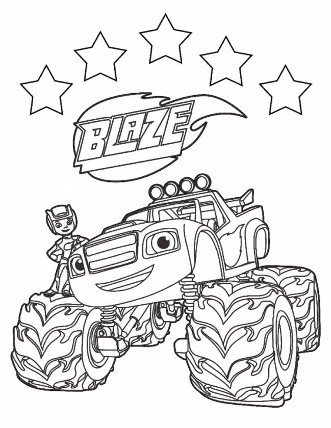 Blaze and the Monster Machines Coloring Pages Five Star