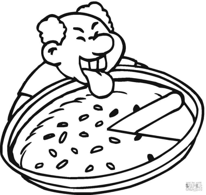 Cheese Pizza Coloring Pages I Want the Whole Pizza for Myself