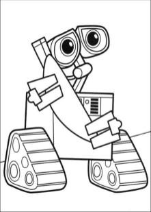 Coloring Pages of A Robot Cute Little Wall E