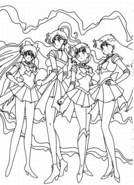 Cute Sailor Moon Coloring Pages The Girls Are Getting Serious