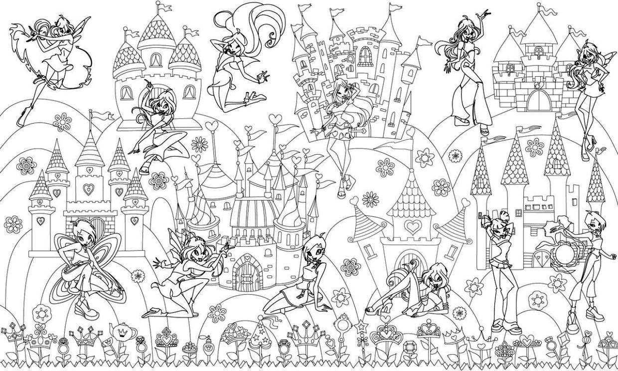 Cute and Hard Coloring Pages Winx Club