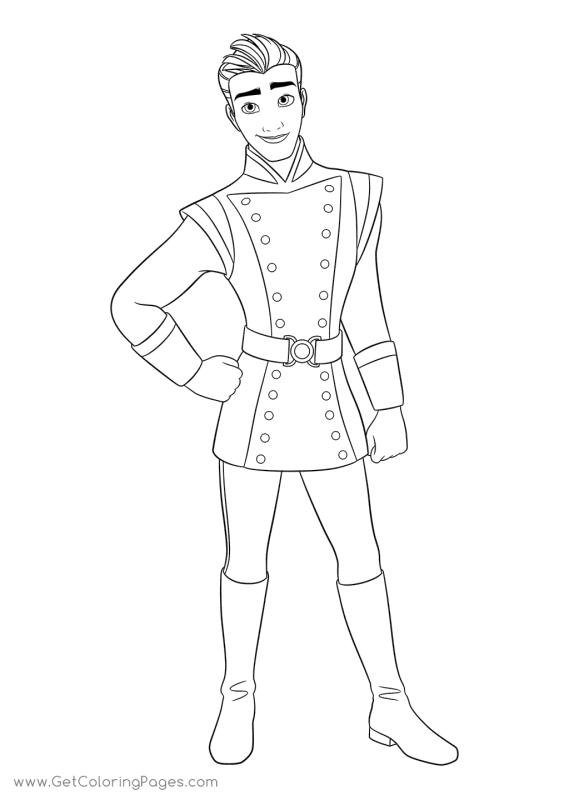 Disney Elena of Avalor Coloring Page Lieutenant Gabe