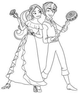 Elena of Avalor Coloring Page Printables Elena and Mateo