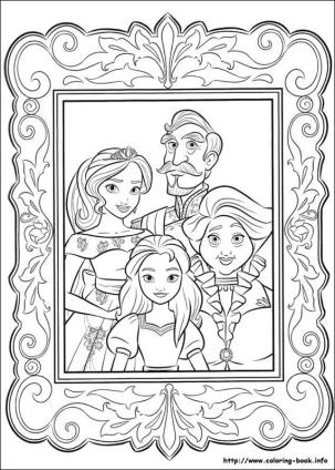 Elena of Avalor Coloring Pages Online Avalor Portrait Family Photo