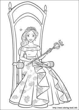 Elena of Avalor Coloring Pages Online Beautiful Princess Elena
