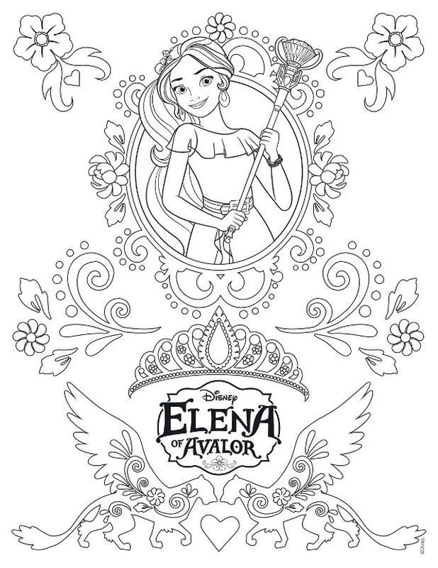 Elena of Avalor Coloring Sheet Elena the Magic Princess