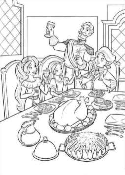 Elena of Avalor Coloring Sheet Family Dinner