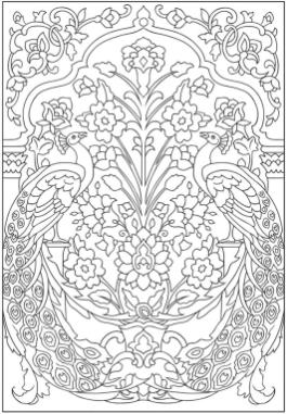 Hard Coloring Pages Printable Free Abstract Peacock Doodle