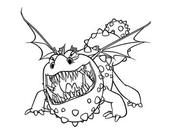 How to Train Your Dragon Coloring Pages Free Meatlug Is a Gronckle