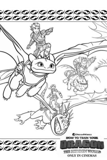 How to Train Your Dragon Coloring Pages Free The Hidden World Poster