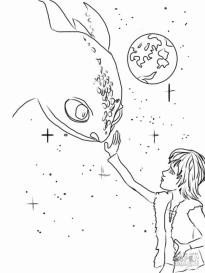 How to Train Your Dragon Coloring Pages Hiccup Touching Dragon for the First Time