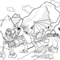 How to Train Your Dragon Coloring Pages Printable Astrid and Her Dragon