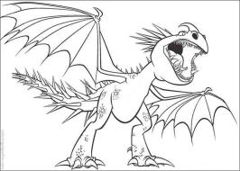 How to Train Your Dragon Coloring Pages Printable Deadly Nadder